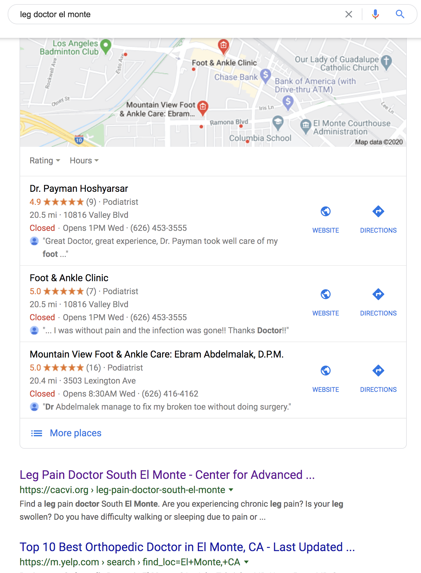 Results Geo Landing Pages