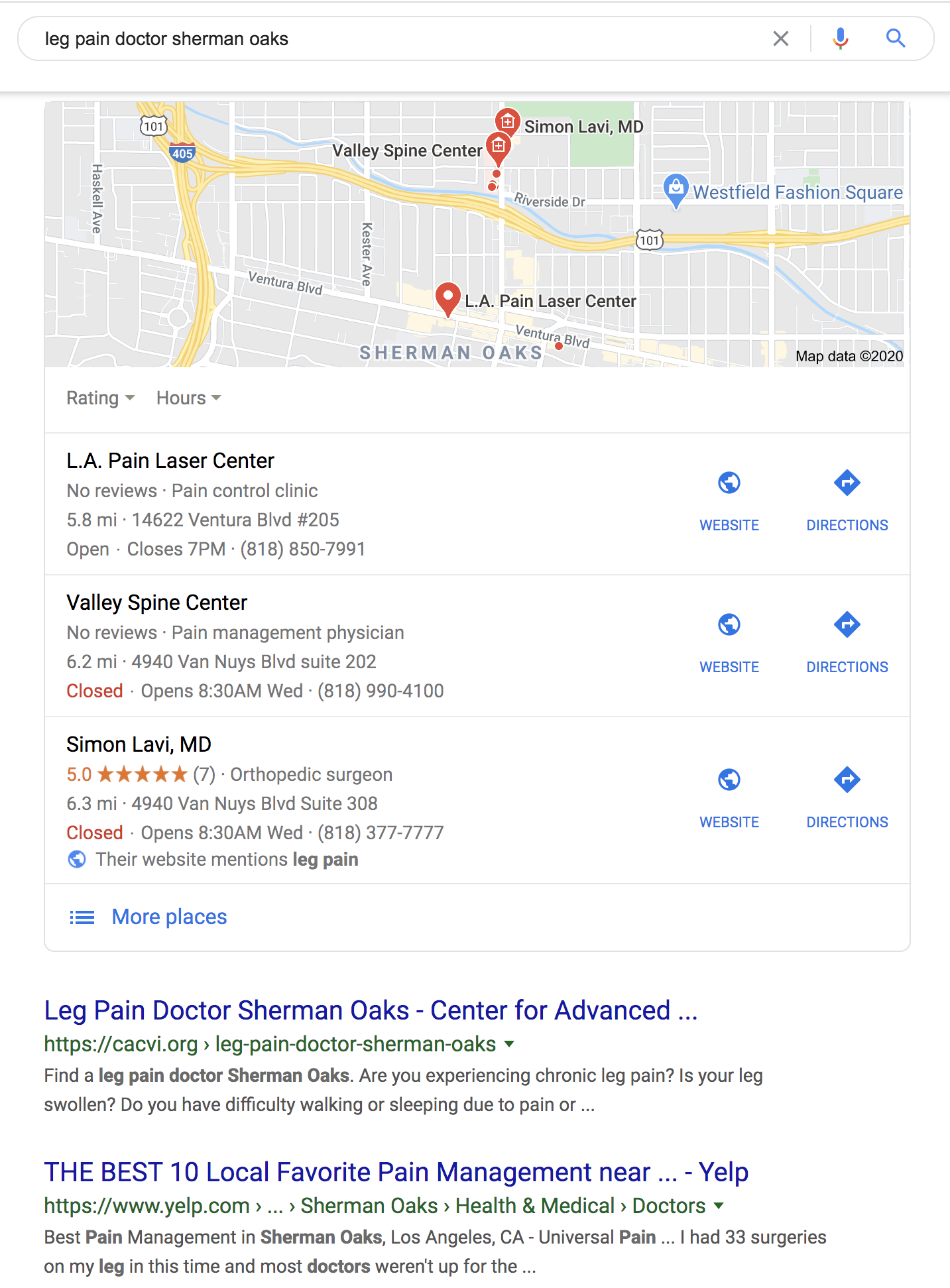 Leg pain doctor sherman oaks